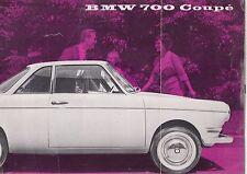 BMW 700 COUPE ORIGINAL 1959 FACTORY UK SALES BROCHURE