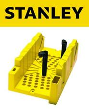 STANLEY Clamping Mitre Box Angle Saw Guide Sawing Skirting Coving Wood, 120112