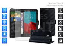 Custodia per Motorola Moto G6 Play (2018) - Nera Portafoglio in Fibra di