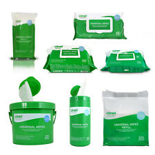 More details for clinell universal disinfectant surface equipment tub cleaning wipes refill packs