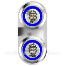 AIR BAG UP & DOWN BILLET SWITCH BLUE HOT ROD RODEO TOYOTA HIACE HILUX UTE MAZDA