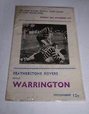 Featherstone v Warrington 20th Nov 1977 John Player 3rd Rd @ Post Office Road