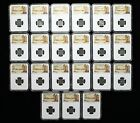 FRANCE. Wholesale lot of 21 Denier Tournois of assorted Kings all NGC Certified