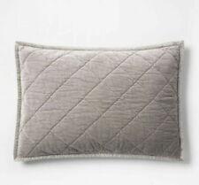 Fieldcrest Sterling Gray quilted Standard Pillow Sham Cottage Grey 20 x 28 (22D