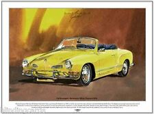 VOLKSWAGEN KARMANN GHIA CONVERTIBLE - Fine Art Print - A3 size picture - Type 14