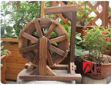 windmill garden flower wood waterwheel handmade wheel faceplate plants