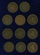NETHERLANDS KINGDOM  1 CENT COINS: 1878-1919, LOT OF 11