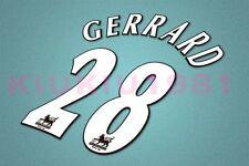 Liverpool Gerrard #28 PREMIER LEAGUE 97-06 White Name/Number Set
