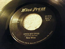 NEW WINE 45 Open My Eyes 1986 Wine Press SG-5010 Private Press Christian Rock EX