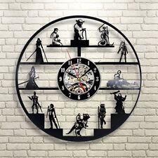 Star Wars Yoda Chewbacca Design Vinyl Record Wall Clock Personalized Art Decor