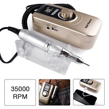 Portable Rechargeable Polisher Electric Nail Drill File Manicure Machine Gold