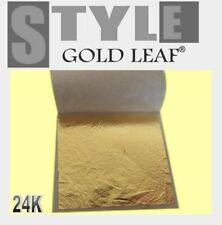 1000 X Feuille Feuilles d'or 24 K Carats 100% Veritable dans la Base Pour Dorure