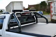 Per adattarsi 2010-2016 VW Amarok Roll bar + LED + LUCE FRENO + COPERTURA Tonneau-Nero