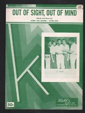 Out of Sight Out of Mind 1956 5 Keys Sheet Music