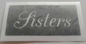 10 x Sisters word stencils for etching on glass gift present glassware