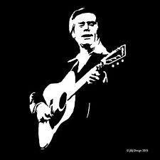 George Jones Oracal White Vinyl Decal Window Sticker Country Music Singer