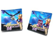 2Pk Disney Hannah Montana Star Photo Necklace TV Miley Cyrus Guitar Girls Rock