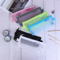 Clear Exam Pencil Case S/L Transparent Simple Mesh Zipper Stationery Bags H&P
