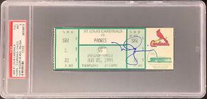 Mark McGwire Signed Full Ticket 8/5/99 500 Home Run Autograph PSA/DNA Tix Mint 9