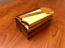 Carver Dan's Wooden Puzzle Jewelry Trinket Box with Cross hand