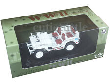 Welly 18036 1/4 Ton US Willys Army Jeep 1:18 Diecast Model Car White