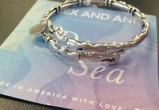 ALEX AND ANI WATER WRAP RAFAELIAN SILVER BRACELET NEW RETIRED
