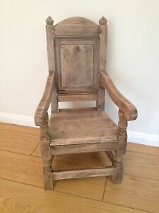 SOLID ELM NATURAL FINISH CHILD'S WAINSCOT CHAIR