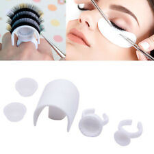 5pcs Plastic Eyelash Extension Glue Ring Adhesive Eyelash Pallet Holder Kit Tool