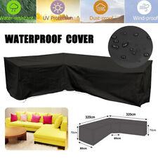 320x320cm L Shape Sofa Cover Patio Outdoor Garden Furniture Waterproof Protector