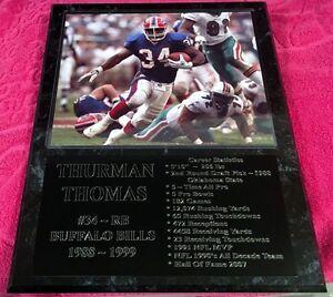 Thurman Thomas - Buffalo Bills statistics plaque - New Lower Pricing!!