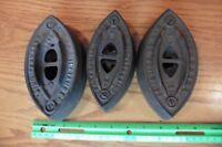 Lot of 3 Sad Irons clothing iron Enterprise No 50 & The AC Williams Door Stops