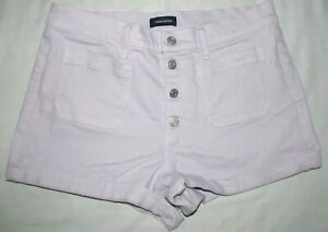 J Crew Light Purple Button Up High Rise Denim Jean Shorts Womens Size 30