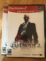 HITMAN 2 SILENT ASSASSIN GREATEST HITS - PS2 - COMPLETE W/MANUAL - FREE S/H (V)