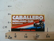 STICKER,DECAL REEK 20 JANUARI HOLLAND CUP INT. ZIJSPANNEN , SIDECARS MX CABALL B