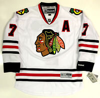 """BRENT SEABROOK CHICAGO BLACKHAWKS REEBOK PREMIER AWAY JERSEY WITH """"A"""" NEW 2015"""