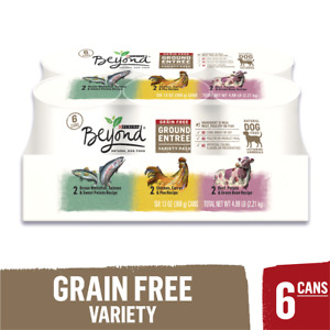 Purina Beyond Grain Free Adult Wet Dog Food Variety (Pack of 6-13 OZ Cans)