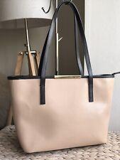 Ted Baker genuine leather nude/beige & black medium handbag tote bag
