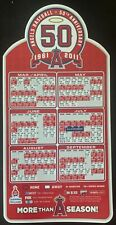 Los Angeles Angels 50th Anniversary Magnet Schedule 2011
