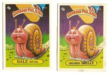 1986 Garbage Pail Kids Series 4 Cards 145a Dale Snail / 145b Crushed Shelly GPK