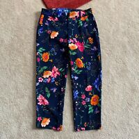 Old Navy Womens 4 Regular Harper Mid-Rise Floral Crop Pants Actual W 29 x I 25