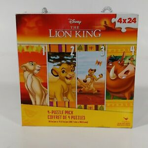 "Disney The Lion King 4 Pack 24 Piece Jigsaw Puzzle 15"" x 11.2"" New"