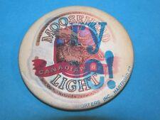"Vintage ""Flicker"" Moosehead Light Canadian Beer Advertising Pinback Button ~"