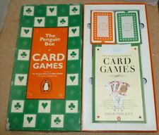 The Penguin Box Of Card Games-The Penguin Book + 2 Packs Of Playing Cards Rare