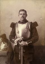 France Cambrai Military Cuirassier Dragon Old Photo Cabinet Card Marcoux 1890