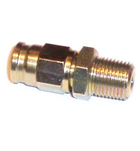Brake Pipe Male End 1/8 NPT Taper - Zinc Plated for AN-3 Braided Brake Line 3mm