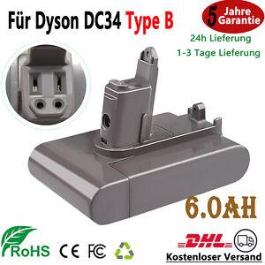 6,0Ah Ersatzakku Für Dyson Type B DC31 DC34 DC35 Animal DC44 DC45 917083-01