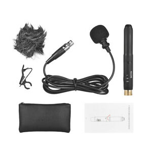 BOYA BY-M11C Lavalier Lapel Clip Microphone 3-Pin XLR Plug for Sound Recording