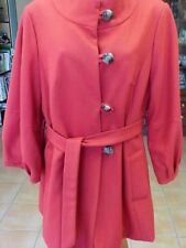 KATIES LADIES RUSTY RED COLOUR LONG SLEEVE OPEN FRONT FULLY LINED COAT SIZE 16