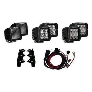 Rigid Industries Triple Fog Mount Kit W/ 6 D-Series Lights For 17-20 Ford Raptor