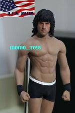 1/6 Sylvester Stallone Rambo Head TBLeague M33 Seamless Muscular Male Figure Set
